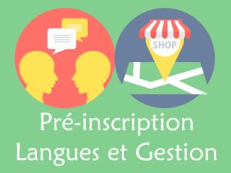 Pré-inscription langues et gestion