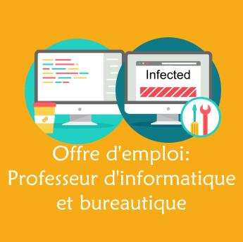 Offre d'emploi: informatique et bureautique